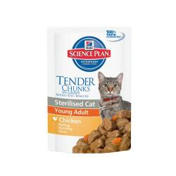 Hill's Science Plan Tender Chunks Sterilised Cat Young Adult Pollo 85g