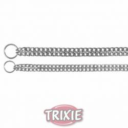 Trixie Cadena Estrangulador Metal Doble Fila 60 cm/ 2,50 mm