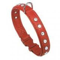 Ferplast Linea Joy Cat-Collares con Strass Color Rojo 22cm