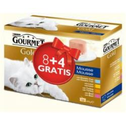 Purina Gourmet Gold Multipack 4 Sabores (8 x 85 g + 4 x 85 g)