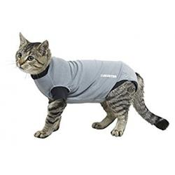 Kruuse Buster Body Suit for Cats Grey/Black 40 cm Size XS