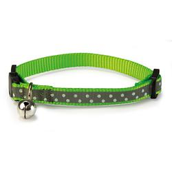 Collar Gato Reflectante Verde 1x20/25cm