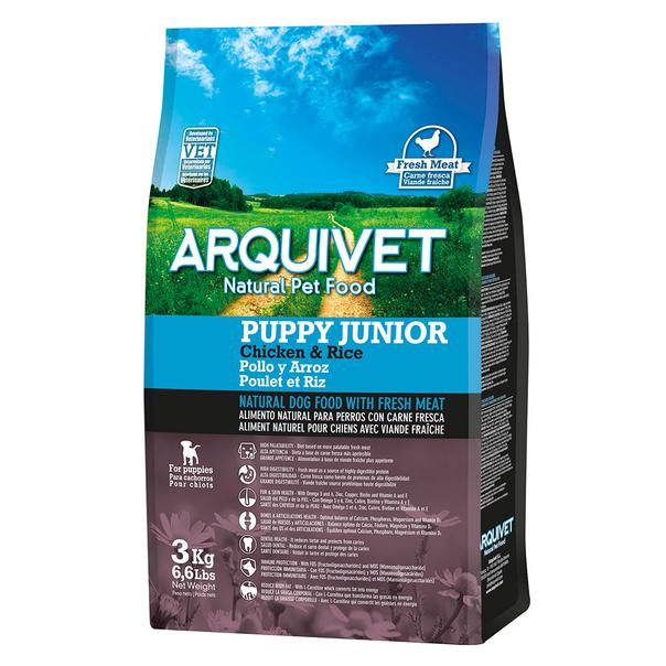 Arquivet Natural Food Puppy Junior Pollo y Arroz 3kg