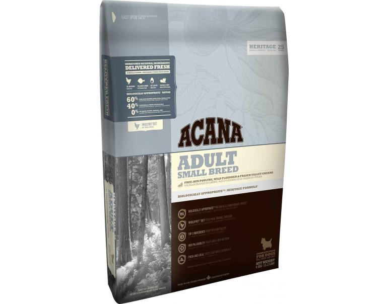 Acana Heritage Dog Adult Small Breed 2Kg
