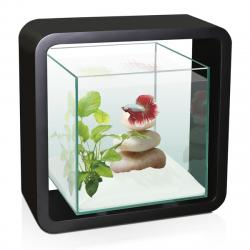 Acuario Ciano Betta Life color negro 5L