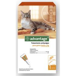 Advantage Antiparasitario para Gatos 1-4kg 4 Pipetas