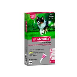 Advantix 6 Pipetas Spot-on Perro 10-25 kg