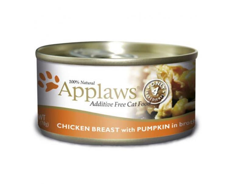 Applaws lata pollo & calabaza 70g