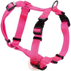 Arnes nylon regulable basic fucsia 27-36cm