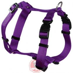 Arnes nylon regulable basic purpura 27-36cm