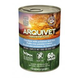 Arquivet Wet Food Light Pollo para Perros Sénior 400g