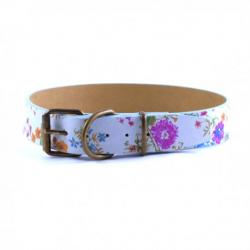 Art Leather Collar Estampado Celeste 55 cm