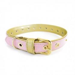 Art Leather Collar Piedras Rosa Oro 55cm