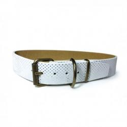 Art Leather Collar Topitos Blanco 45cm