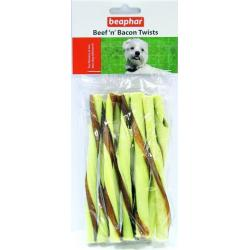 Beaphar Palitos Twists Buey y Bacon 8uds 12cm