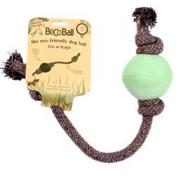 Becothings BecoBall con Cuerda para Perros Color Verde Tamaño S