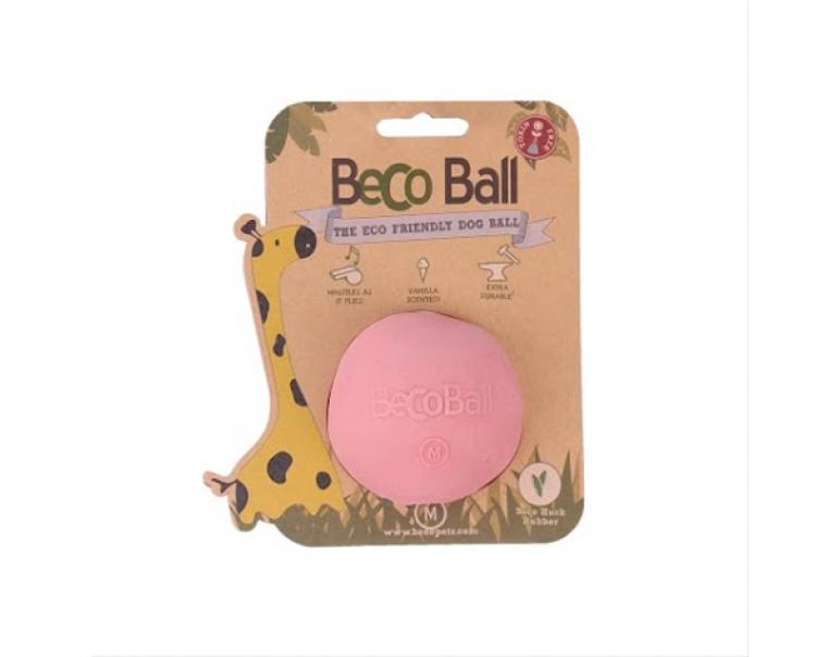 Becothings BecoBall para Perros Color Rosa Tamaño M