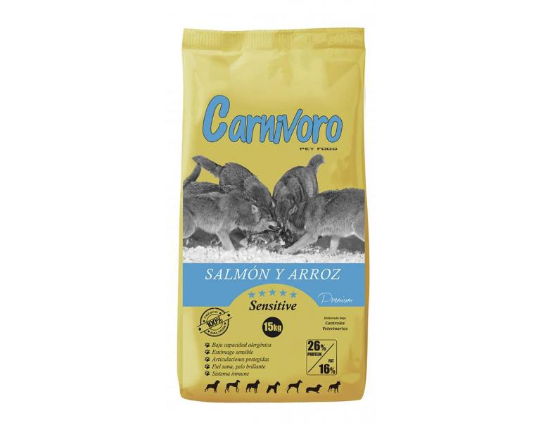 Carnívoro Sensitive Salmón Arroz 15kg