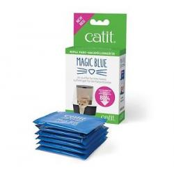 Catit Magic Blue Reductor de Olores para Gateras Recambios 6 uds
