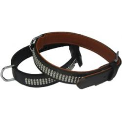 Montero Pet Collar Cuero Country Negro 2,5 x 55 cm