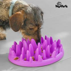 My Pet Ez Comedero Interactivo para Mascotas Slow Food Bowl