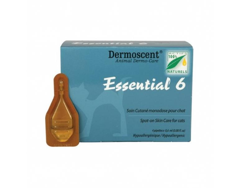 Dermoscent Essential 6 Spot On Para Gatos 4 Pipetas