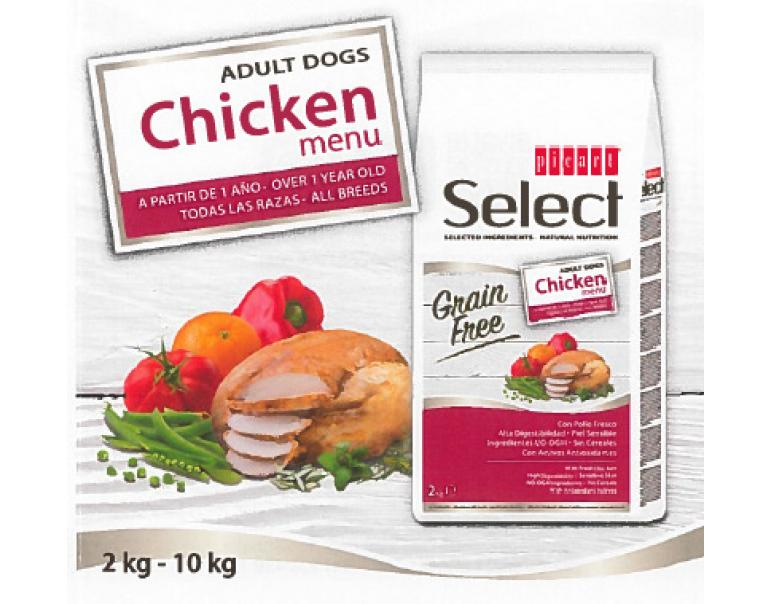 Picart Select Dog Adult Grain Free Pollo Menu 2kg