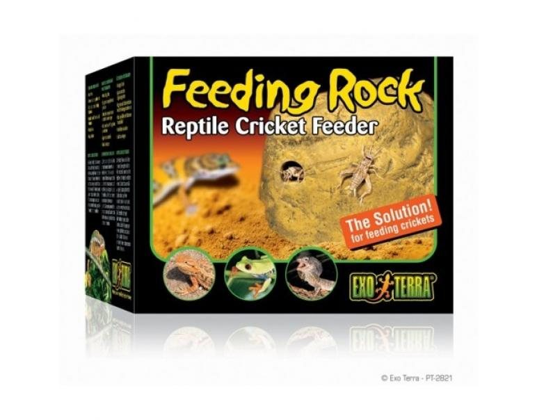 Exo Terra Feeding Rock Comedero Dispensador De Grillos