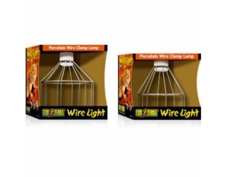 Exo Terra Wire Light Lampara de Porcelana Tamaño Grande