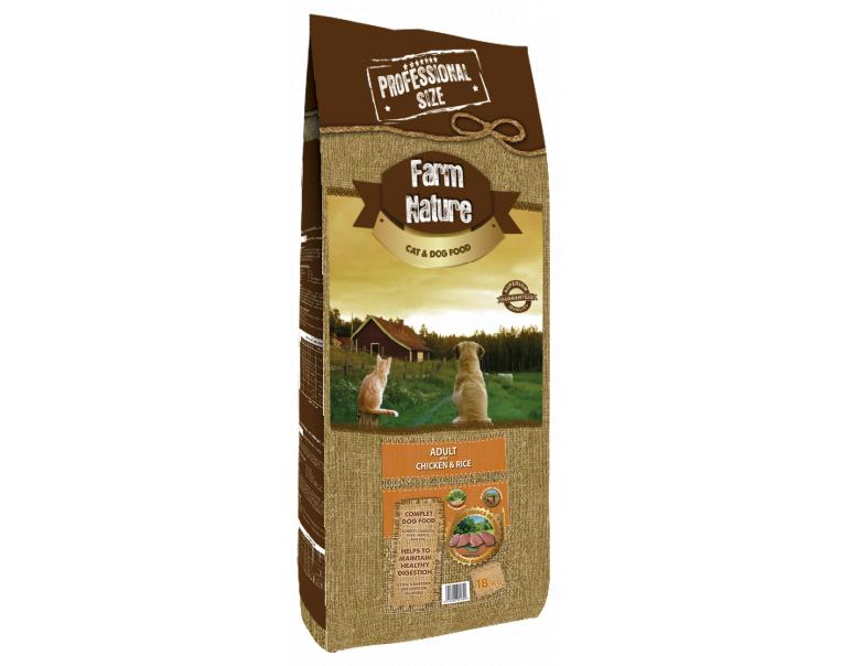 Farm Nature Adulto Pollo y Arroz 18kg