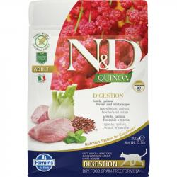 Farmina N&D Grain Free Quinoa Adulto Digestion Cordero para Gatos 300g