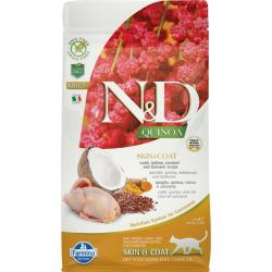 Farmina N&D Grain Free Quinoa Adulto Skin & Coat Codorniz para Gatos 1,5kg
