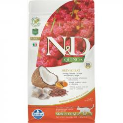 Farmina N&D Grain Free Quinoa Adulto Skin & Coat Pescado para Gatos 300g