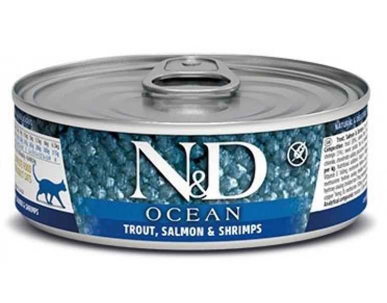 Farmina ND Cat Ocean Truca y Gamba 12x80g