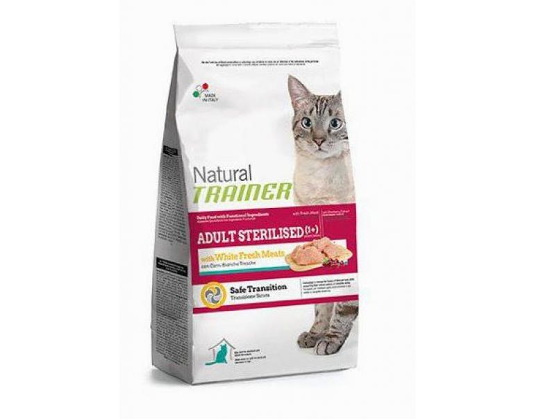 Natural Trainer Cat Adult Sterilised White Meat 300g