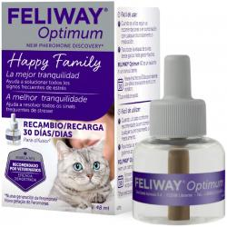 Feliway Optimum Antiestrés para Gatos Recambio 48ml
