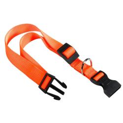 Ferplast Collar de Nylon Club Naranja 1x18-25cm