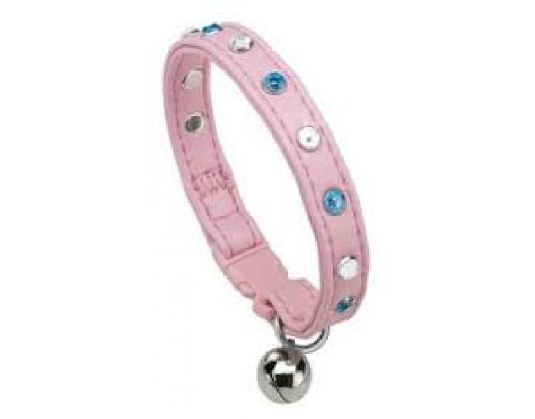 Ferplast Línea Joy Cat-Collares con Strass Color Rosa 31cm