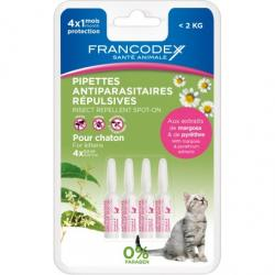 Francodex Pipetas Repelentes Gatitos 4 Pipetas