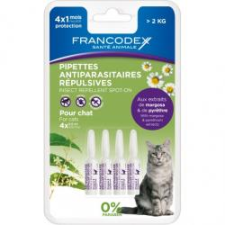 Francodex Pipetas Repelentes Gatos + 2 kg 4 P