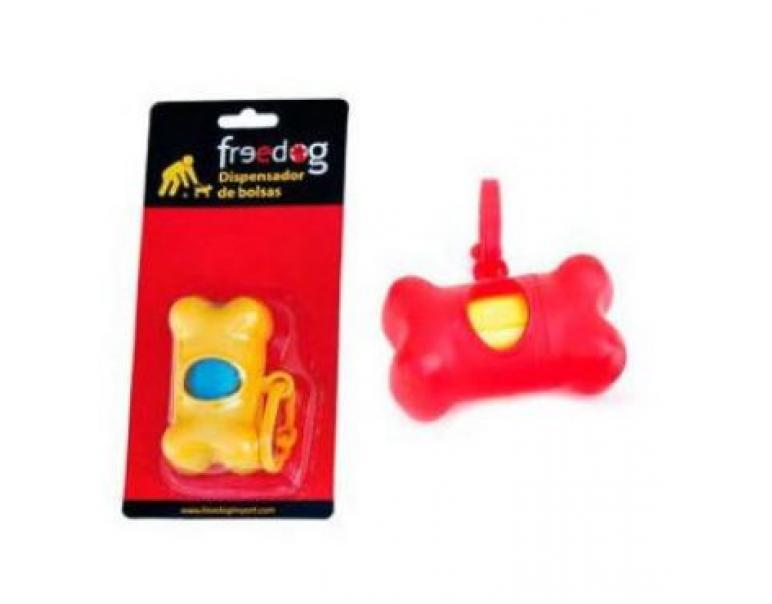 Freedog Hueso Dispensador Bolsas Azul