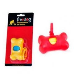 Freedog Hueso Dispensador Bolsas Naranja