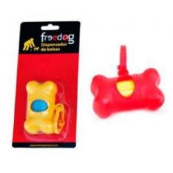 Freedog Hueso Dispensador Bolsas Rosa