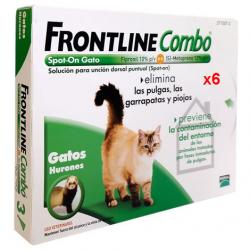 Frontline Combo Spot-On Gatos 6 Pipetas Antiparasitarias