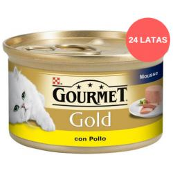 PACK AHORRO Gourmet Gold Pollo Mousse 24x85gr