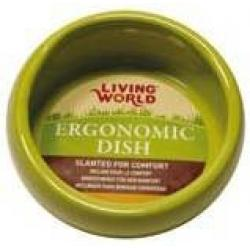 Hagen Living World Comedero Ergonomico Verde - Pequeño 120 ml