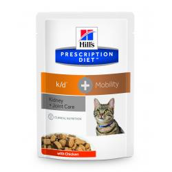 PACK AHORRO Hill's Prescription Diet k/d Gatos Salud Renal con Pollo Bolsa 12x85g