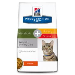 Hill's Prescription Diet Metabolic + Urinary Stress Gatos Tracto Urinario y Sobrepeso 4kg