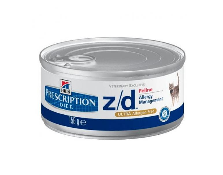 Hill's Prescription Diet z/d Ultra Gatos Alergias Alimentarias Lata 156g
