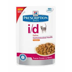 PACK AHORRO Hill's Prescription Diet i/d Gatos Salud Digestiva Bolsa 12x85g